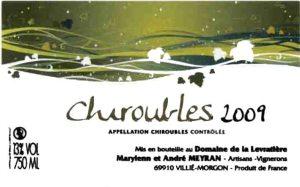 cru chiroubles beaujolais